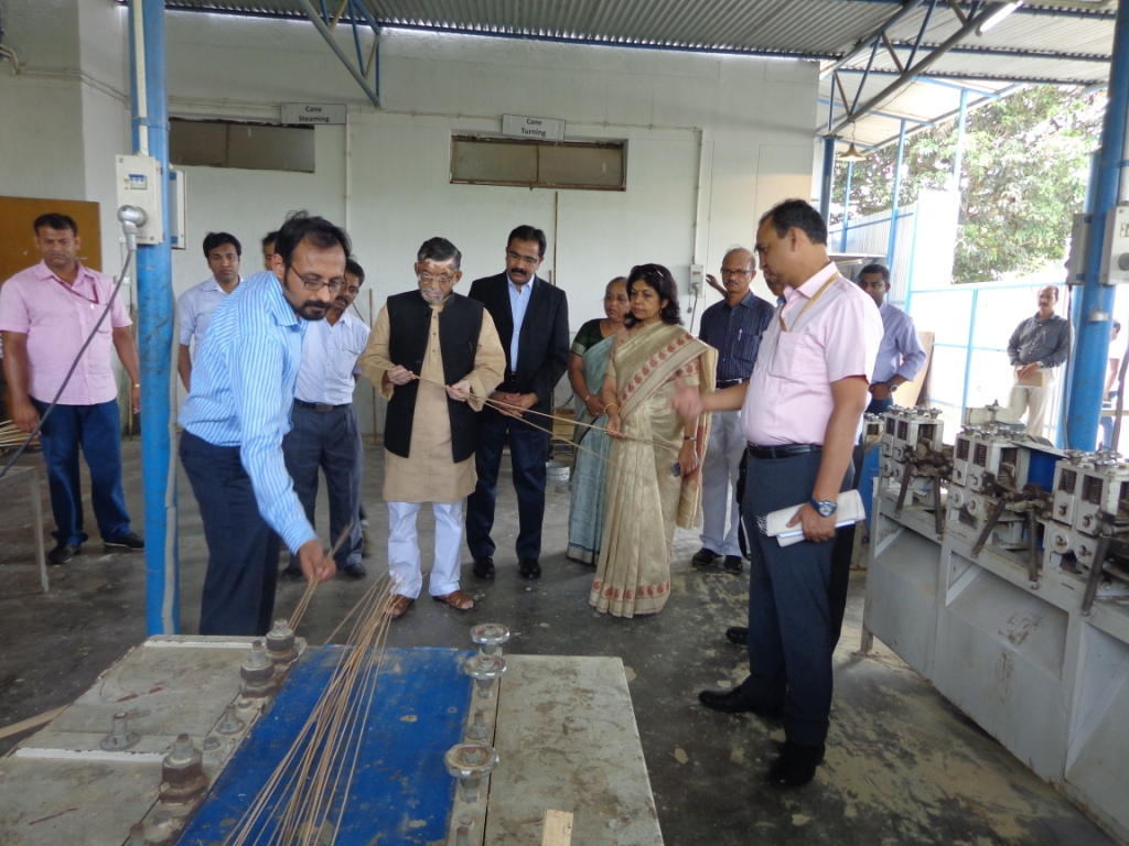 image of Textiles Minister lays foundation stone of New Hostel Wing at Bamboo and Cane Development Institue ,Agartala